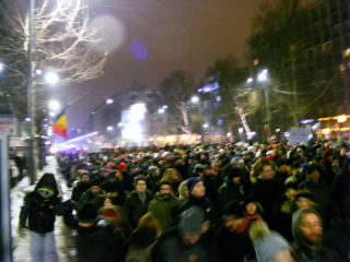 PROTESTS IN BUCHAREST 2017 JANUARY